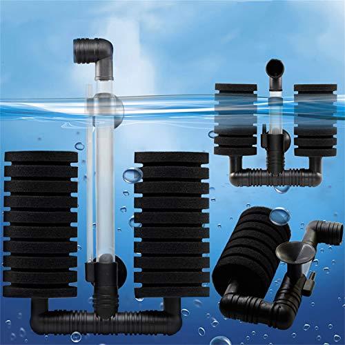 Foreverharbor New Practical Aquarium Biochemical Sponge Filter Fish Shrimp Tank Air PumpBlack