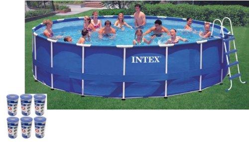 Intex 18 x 48 Metal Frame Swimming Pool Set with 1500 GFCI Pump  28251EH