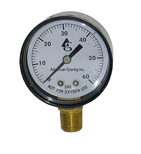 Swimming Pool Or Spa Filter Pressure Gauge Side Mount 60lb Filter Pressure Gauge 14&quot Pipe Threads