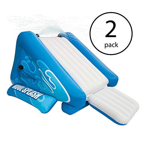 MRT SUPPLY Kool Splash Inflatable Play Center Swimming Pool Water Slide 2 Pack with Ebook