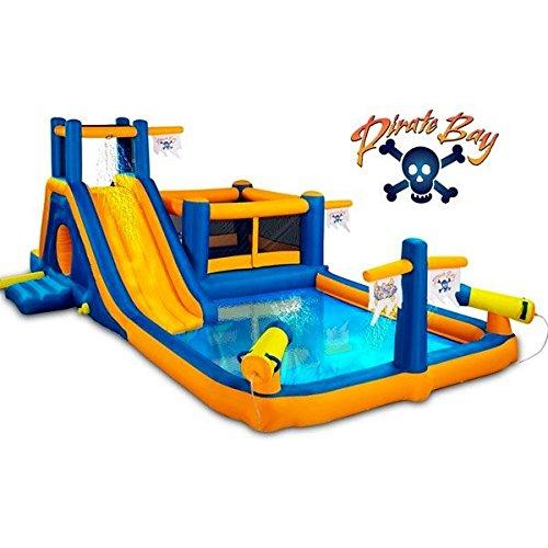 Fun Outdoor Inflatable Water Slide Kids Hot Summer Pool Party Bounce House Moonwalk Jumping Jumper Water Blasting