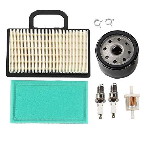 698754 273638 Air Filter 691035 Fuel Filter 696854 Oil Filter Spark Plug for Briggs Stratton Intek Extended Life Series V-Twin 18-26 HP John Deere L120 L111 L118 LA120 LA130 LA140 Lawn Mower Tractor