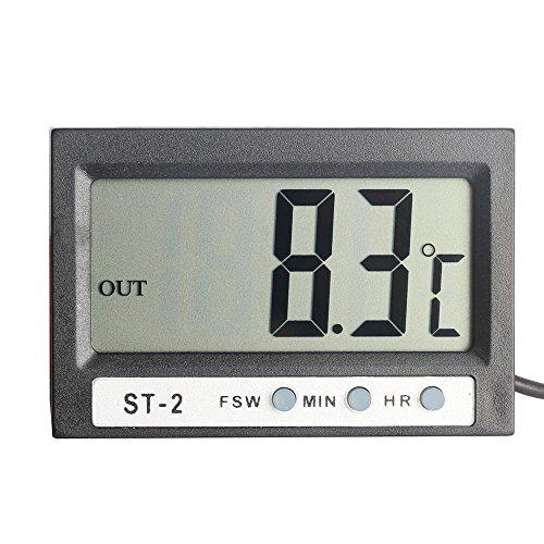 Elitech Thermometer indoor outdoor clock display sensor ST-2
