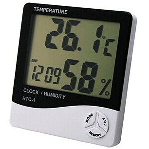 Bestyu Indoor Outdoor Digital LCD Display Hygrometer Thermometer Temperature Humidity Meter Alarm Clock Home Garden