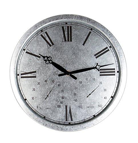 Galvanised Outdoor Garden Clock - 35cm 138