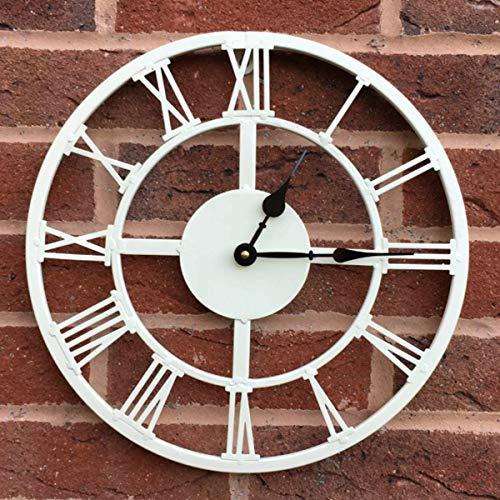Smart Garden Buckingham Indoor Outdoor Garden Clock 14  Coated Weatherproof Cream Metal Traditional Roman Style