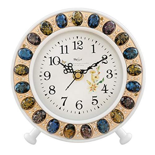 DQMSB European Solid Wood Bedroom Clock Modern Creative Fashion Silent Clock Crystal Decorative Clock 6 inch