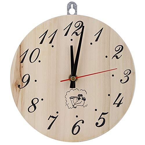 Jadpes Decorative Clock 8in Sauna Clock Decorative Timer Clock for Sauna Accessory Sauna Room Home Decor