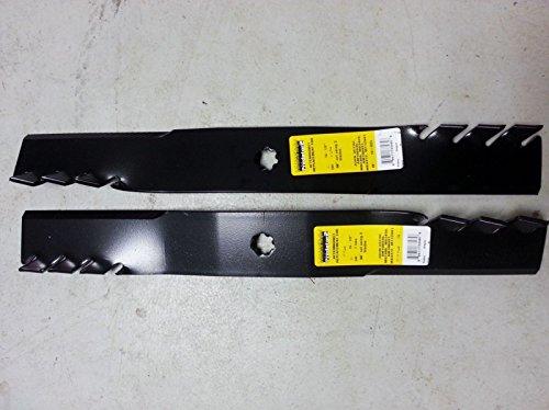 B1pd5016D Set of 2 John Deere 42 Predator Mulching Mower Blades La Series Gx22151 11594 Am137327 Am137328 Am137329 Am13733 Am137333 Am140973 Am141032 Am141033 Am141034 Gy20850 M154061 M154062