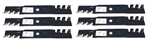6PK Mulching Lawn Mower Blades for 48 John Deere D140 D150 D160 LA130 LA140 LA145 LA155 LA165 X 140 X165 145 155C GX21784 GX21786 GY20852
