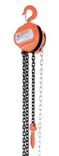 Vestil HCH-2-20 Hand Chain Hoist Hook Mount 1 Ton Capacity 20 Standard Lift 12 Headroom