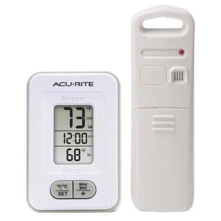 Acurite Wireless IndoorOutdoor Thermometer with Clock