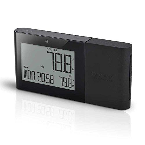 Oreav Rmr262blrbk Oregon Scientific Indooroutdoor Thermometer With Atomic Clock Black