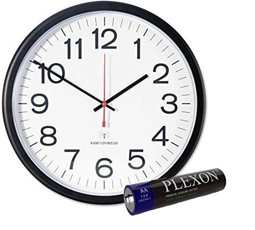 Universal Indooroutdoor Clock 13 12-inch Black 11381with Aa Plexon Battery Included
