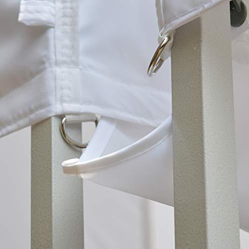 Eurmax 10 Ft Rain Gutter 10x10 Instant Canopy Pop Up Tent White