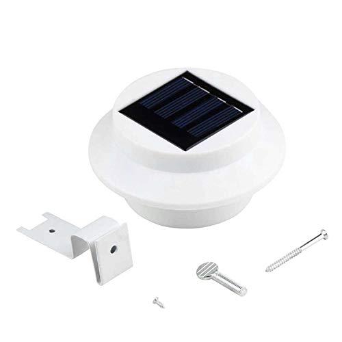 Unitedheart Solar Powered Outdoor Garden Light Gutter Fence Lamp Wall Roof Yard 3 LED Lamp Energy Saving Light for Outdoor Garden