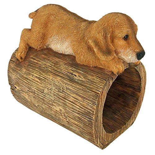 Design Toscano Golden Retriever Puppy Dog Gutter Guardian Downspout Statue