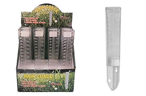 Diamond Visions 01-0899 Clear Outdoor Rain Gauge Multipack 4 Rain Gauges