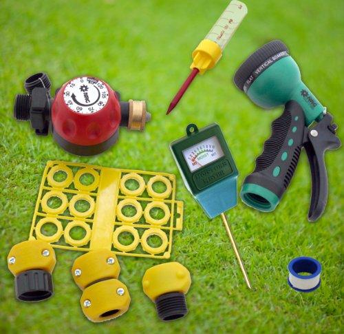 Ultimate Lawn Garden Outdoor Water Saving Eco-kit Hose Nozzle Rain Gauge Repair Conserve Moisture Sensor Hose Timer
