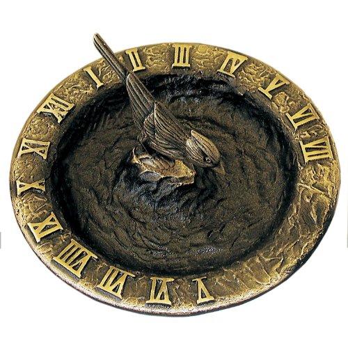 Rome Rm2322 Antique Brass Birdbath Sundial