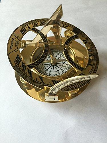 Seagifts Brass Sundial Compass- Nauticalmart Nautical Compass 5&quot