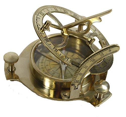 BLUE NIGHT 4 Sundial Compass - Solid Brass Sun Dial