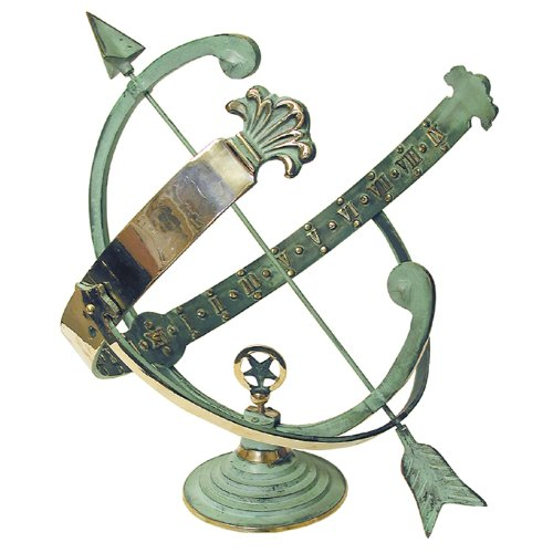 Rome Rm1336 Polished Brass 18-inch Diameter Armillary Sundial
