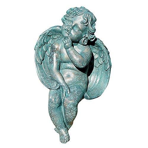 Welland 13-inch Antique Finish Angel Garden Statue