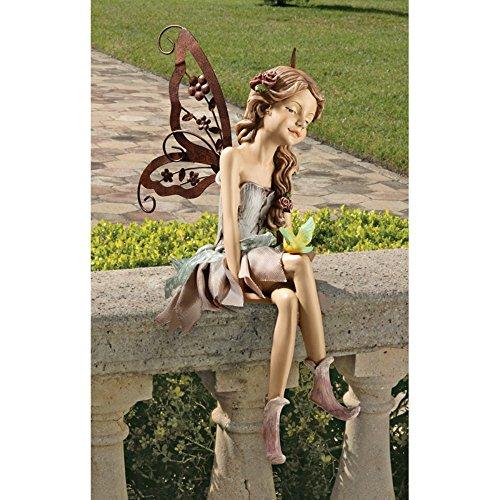 Design Toscano Fannie the Fairy Sitting Statue - Set of 2