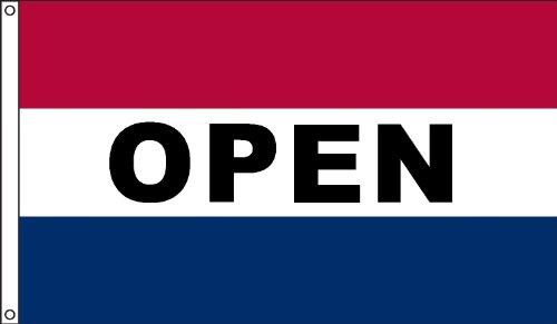 US Flag Factory 3x5 Nylon OPEN Flag Sewn Stripes Outdoor Message Flag