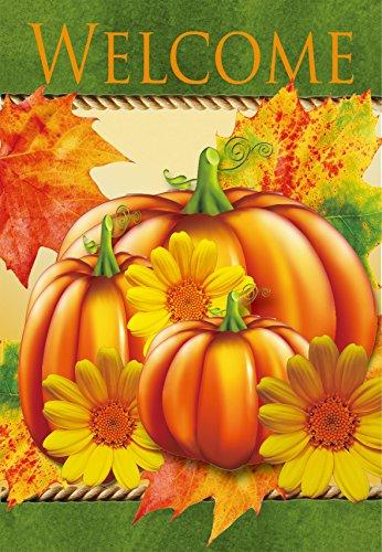 Autumn Pumpkins Large Home Garden Flag - 288 X 384 Inches