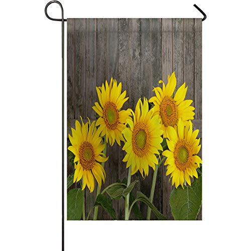 HilariousM Summer Blossom Sunflower Theme Garden Flag Vertical Double Sided Polyester Decorative Banner Flags for Outdoor Party Wedding Yard Lawn Home 12x18inch Polyester