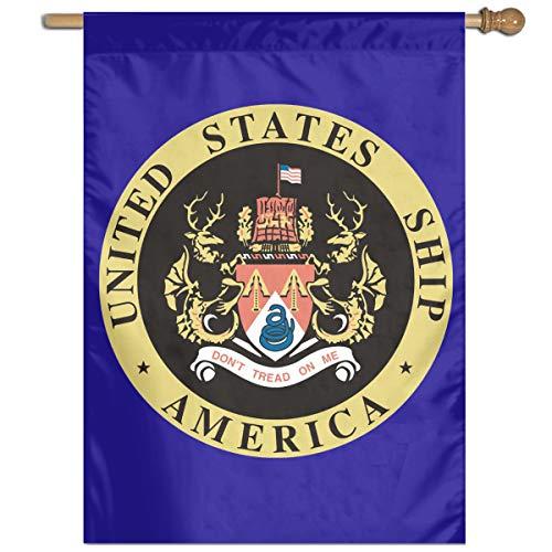 Navy USS America CVA-66 Garden Banner Flags Springtime 27x37 Decorative Garden Flag