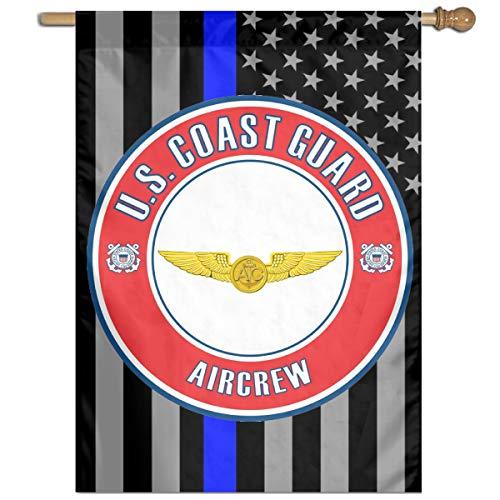US Coast Guard Aircrew Badge Home Banner Flags Springtime 27x37 Decorative Garden Flag