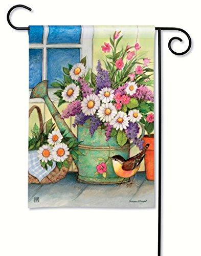 Breezeart Front Porch Flowers Garden Flag 31353