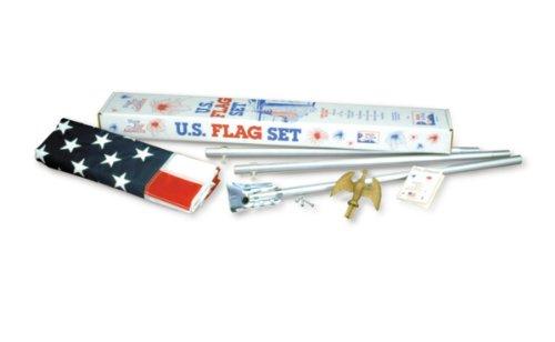 US 3x5 foot E-poly porch flag kit - economy grade hardware