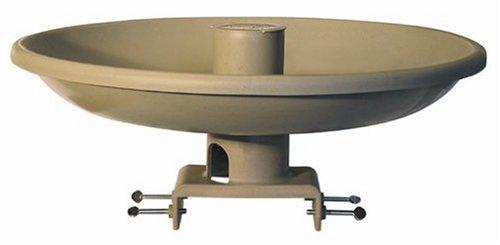 Farm Innovators Model HBI-150 All Seasons Premium Heated Birdbath with Deck Mount Perch Tan 150-Watt