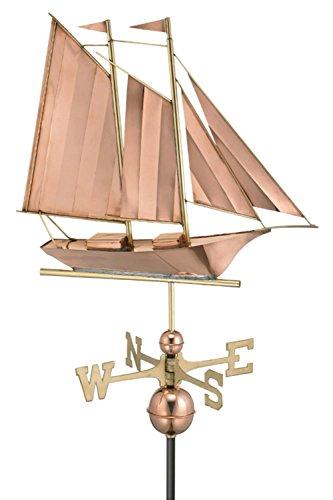 25 Luxury Polished Copper Nautical Schooner Sailboat Weathervane