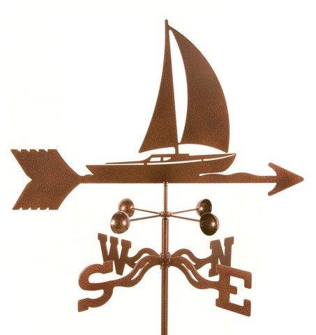 EZ Vane EZ1608-PT Sailboat Weathervane with Post Mount