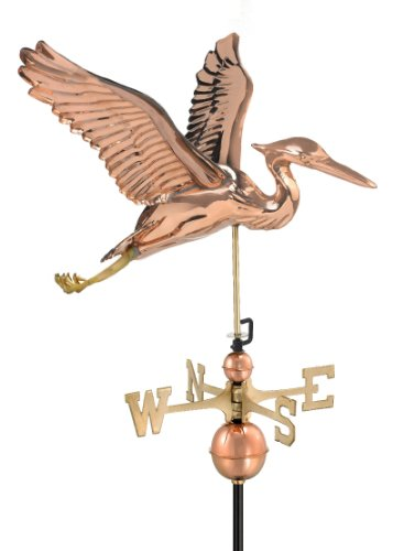 Good Directions 9606P Blue Heron Weathervane Polished Copper