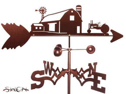 Farm Scene John Deere Green Tractor Garden Stake Weathervane ~new~