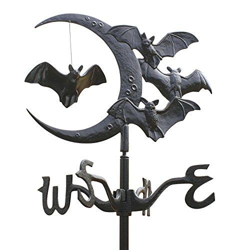 Design Toscano Crescent moon Vampire Bats Metal Weathervane Roof Mount