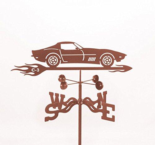 EZ Vane EZ1012-4S Corvette C3 Car Weathervane with Four Sided Mount