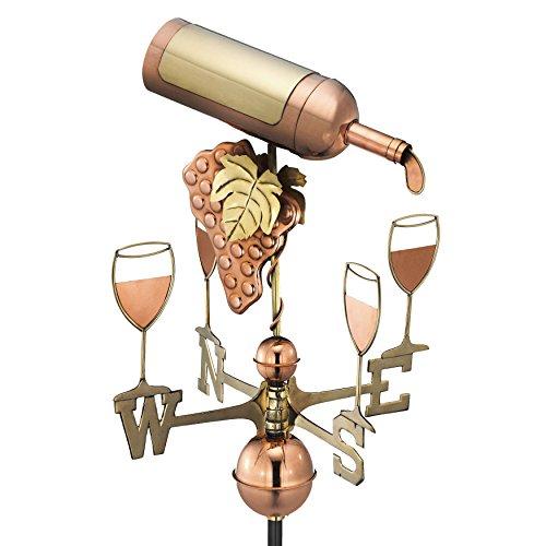 Good Directions Wine Bottle Weathervane Pure Copper