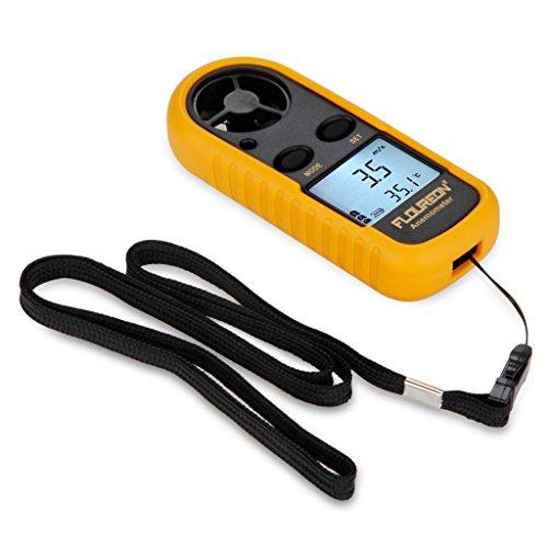 Floureon Gm816 Lcd Digital Display Handheld Portable Air Velocity Wind Speed Temperature Gauge Meter Anemometer