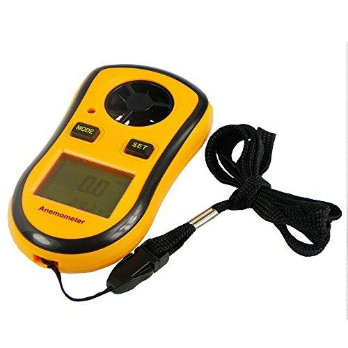 Geartist TM Digital LCD Wind Speed Temperature Measure Gauge Anemometer GT8908