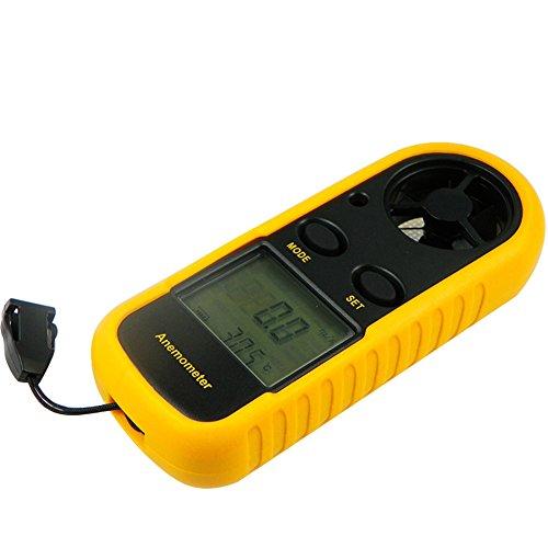 Geartist tm Digital Lcd Anemometer Thermometer Air Wind Speed Scale Gauge Meter Backlight gt816
