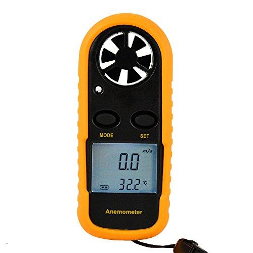 Wisefield Digital Anemometer Wind Speed Measure Meter Gauge Thermometer Measuring With Backlight