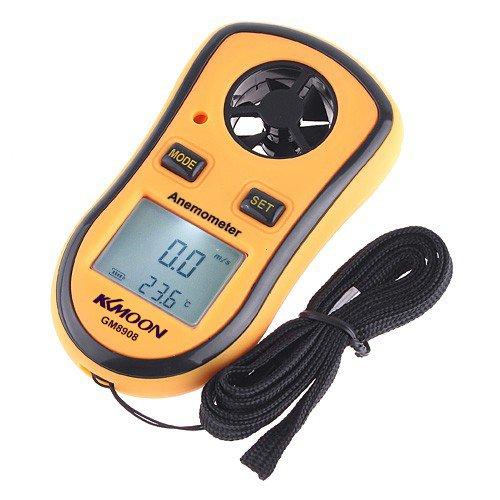 engdash GM8908 LCD Digital Wind Speed Temperature Measure Gauge Anemometer GM8908