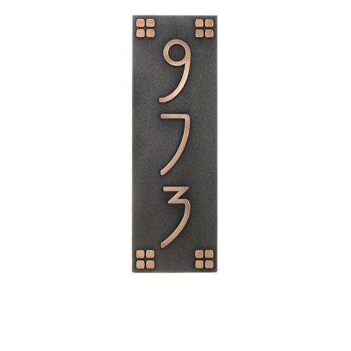 Prairie Style Custom Address Plaque - 6x18 - Sign is Bronze Metal Coated